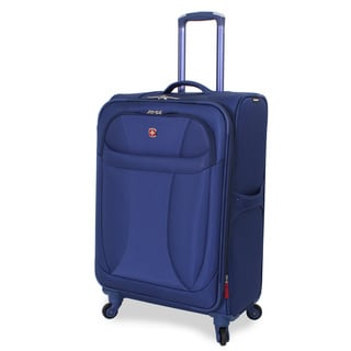 Wenger Lightweight Blue 24-inch Spinner Upright Suitcase