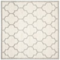 Safavieh Indoor/ Outdoor Amherst Beige/ Light Grey Rug - 9' Square