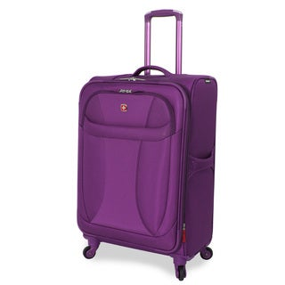 Wenger Lightweight Purple 24-inch Spinner Upright Suitcase