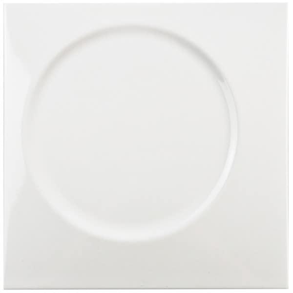 Somertile 8x8 Inch Circe White Ceramic Wall Tile Case Of