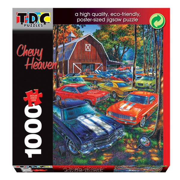 TDC Games 1000-piece Eco-Friendly 'Chevy Heaven' Puzzle