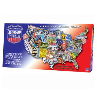 TDC Games License Plates USA Shaped Puzzle