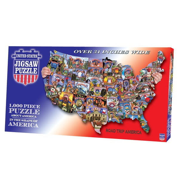TDC Games Road Trip America USA Shaped Puzzle