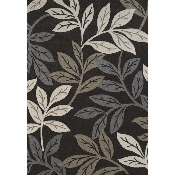 Hand-carved Townshend Brown Area Rug - 7'10 x 11'2