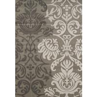 Hand-carved Townshend Lizzie Beige Area Rug - 7'10 x 11'2