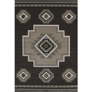 Hand-carved Townshend Adele Brown Area Rug (7'10 x 11'2)