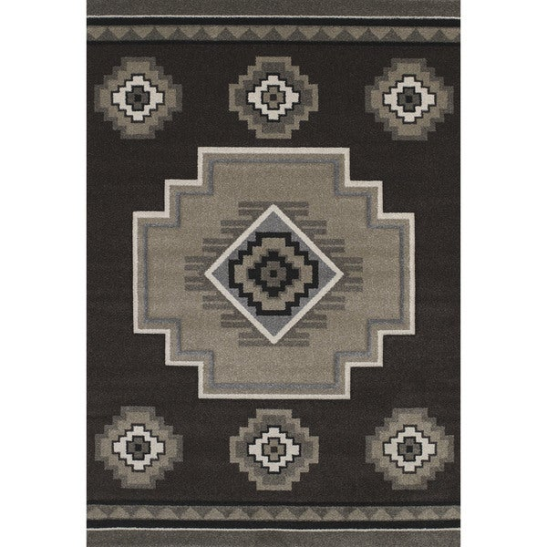 Shop Hand Carved Townshend Adele Brown Area Rug 7 10 X 11