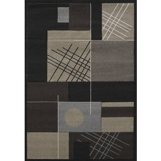 Hand-carved Townshend Lolita Black Area Rug (7'10 x 11'2)