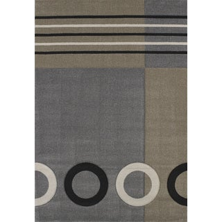 Townshend Honor Grey Hand Carved Area Rug (7'10 x 11'2)