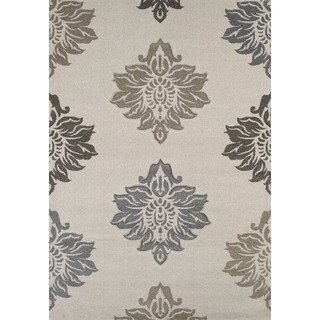 Townshend Hope Cream Hand Carved Area Rug - 7'10 x 11'2