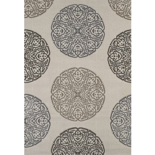 "Townshend Lora Cream Hand Carved Area Rug (7'10"" x 11'2"")"