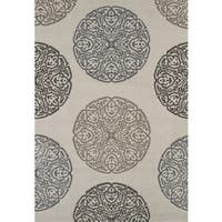 Townshend Lora Cream Hand Carved Area Rug - 7'10 x 11'2