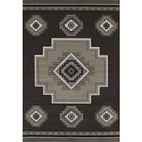 Townshend Adele Brown Hand Carved Area Rug - 5'3 x 7'6