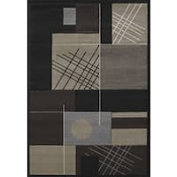 Townshend Lolita Black Hand Carved Area Rug - 5'3 x 7'6