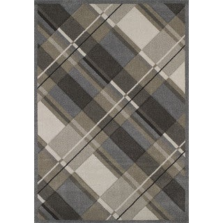 """Townshend Adeline Grey Hand Carved Area Rug (5'3"""" x 7'6"""")"""