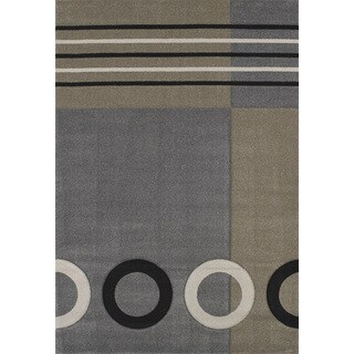 """Townshend Honor Grey Hand Carved Area Rug (5'3"""" x 7'6"""")"""