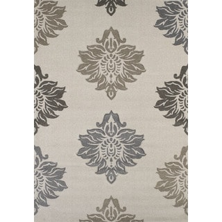 """Townshend Hope Cream Hand Carved Area Rug (5'3"""" x 7'6"""")"""