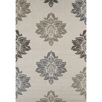 Townshend Hope Cream Hand Carved Area Rug - 5'3 x 7'6