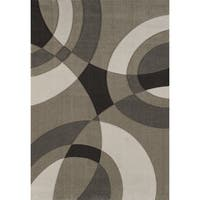 """Townshend Riley Beige Hand Carved Area Rug - 5'3"""" x 7'6"""""""