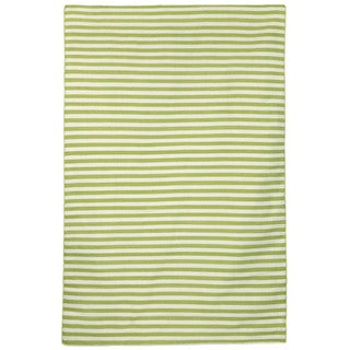 Petite Stripe Green Outdoor Rug (8'3X11'6)