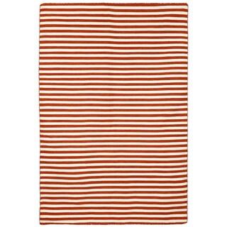 Petite Stripe Paprika Outdoor Rug (8'3X11'6)