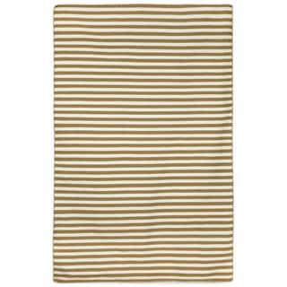 Petite Stripe Khaki Outdoor Rug (8'3X11'6)