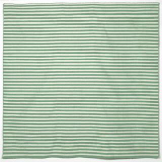 Petite Stripe Aqua Outdoor Rug (8' SQ)