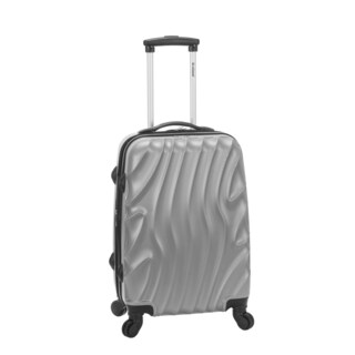 Rockland Wave 20-inch Expandable Hardside Carry On Spinner Upright Suitcase