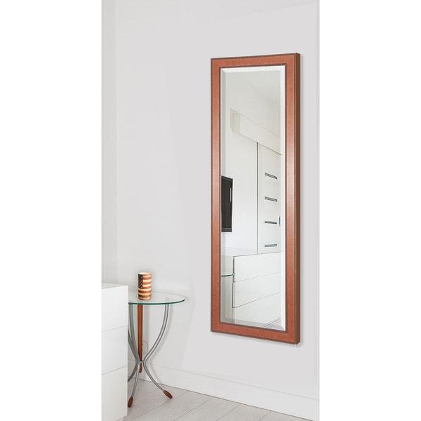 American Made Rayne Rustic Rope 25 x 63 Full Body Vanity Wall Mirror - Brown