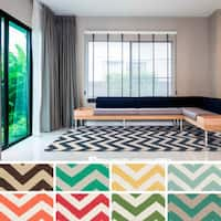 Wells Flatweave Chevron Area Rug