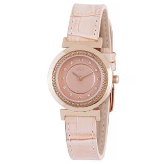 Johan Eric Women's Djursland Leather Analog Watch