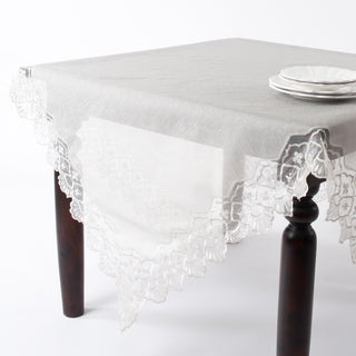Embroidered and Hand Beaded Tablecloth
