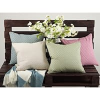 Dotted Design Down Filled 18-inch Throw Pillow (Set of 2)