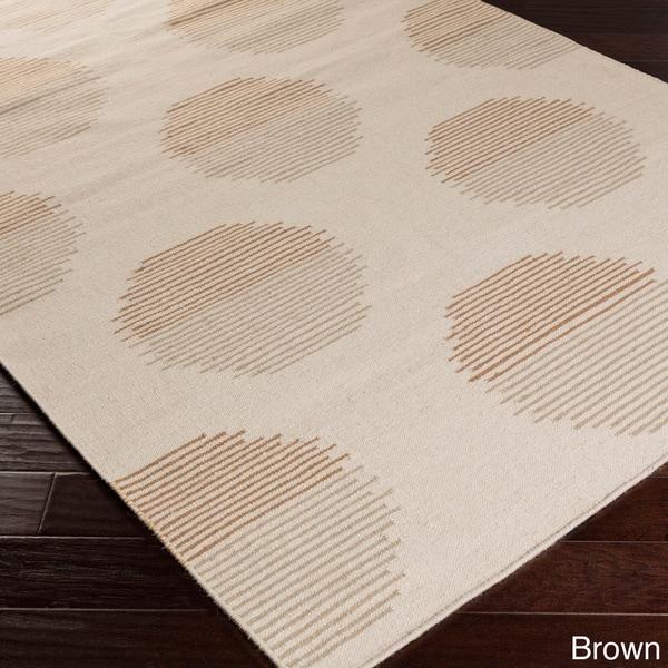 Hand-woven Roubaix Flatweave Wool Area Rug (5' x 8') - 5' x 8'