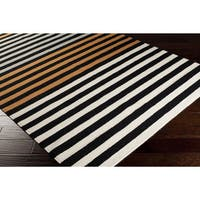 Hand Woven Ollie Wool Area Rug - 5' x 8'