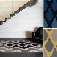 Hand-woven Versailles Flatweave Wool Area Rug - 8' x 11'
