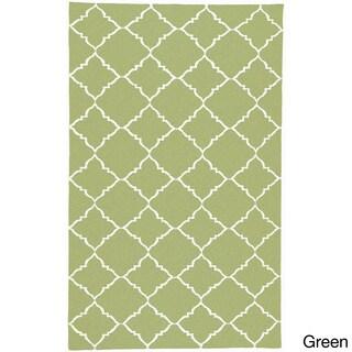 Hand-woven Arles Flatweave Wool Rug (2' x 3')
