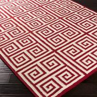 Hand-woven Auckland Flatweave Wool Area Rug (2' x 3')
