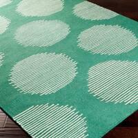 Hand-woven Bondy Flatweave Wool Area Rug - 2' x 3'