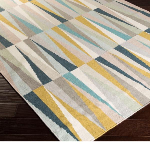 Hand-woven Chelles Flatweave Wool Area Rug (2' x 3')
