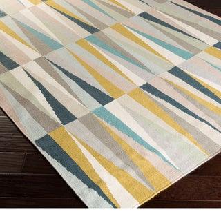 Hand-woven Chelles Flatweave Wool Rug (2' x 3')