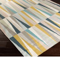 Hand-woven Chelles Flatweave Wool Area Rug - 2' x 3'