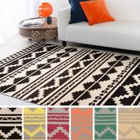 Hand-woven Leganes Flatweave Southwestern Wool Area Rug
