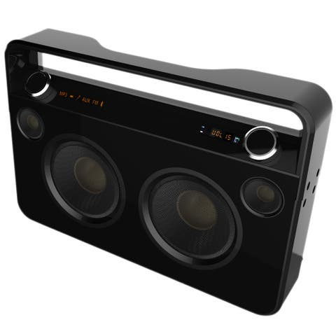 Supersonic Portable Bluetooth Speaker System - 50 W RMS - Black