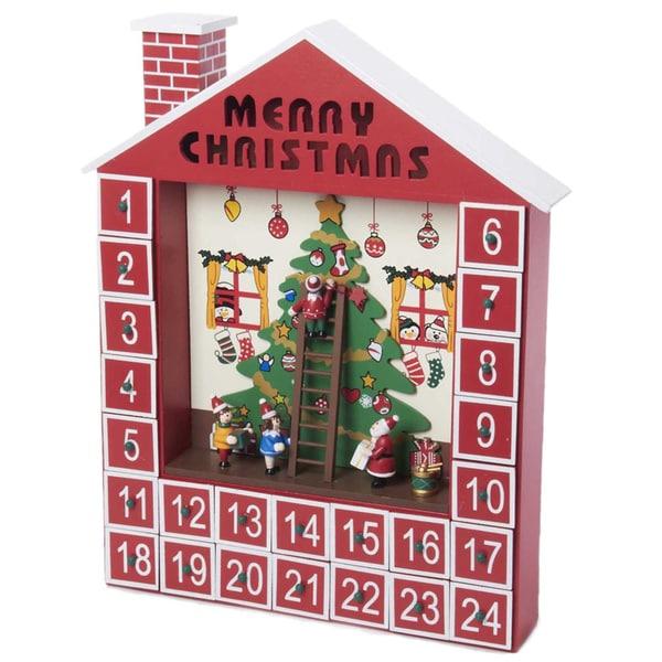 Kurt Adler 15 Inch Wooden Advent Calendar House