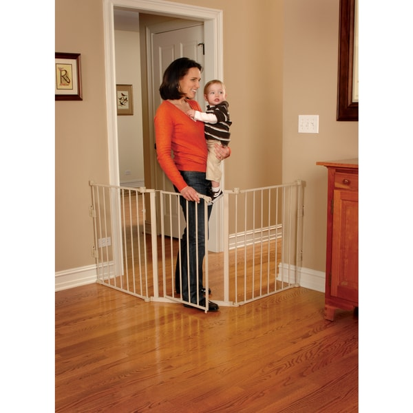 Shop Regalo Extra Wide Flexi Safety Gate Beige Free