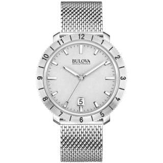 Bulova Accutron II Men's 96B206 Quartz Mesh Stainless Steel Gray Dial Watch
