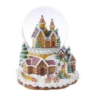 Kurt Adler 120MM Battery Operated Musical Light-Up Snowing Candy House Waterball