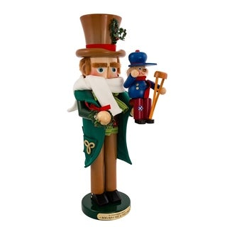 Kurt Adler 17-inch Limited Edition Steinbach Bob Cratchit with Tiny Tim Nutcracker
