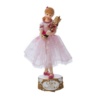 Kurt Adler 10-inch Musical Clara with Nutcracker Tablepiece